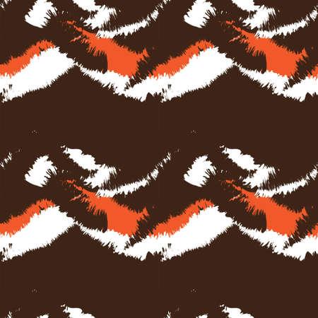 Orange Brush stroke fur pattern design for fashion prints, homeware, graphics, backgrounds