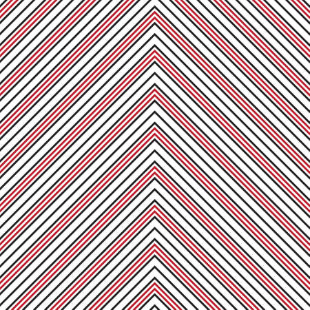 Red Chevron diagonal striped seamless pattern background suitable for fashion textiles, graphics Vecteurs