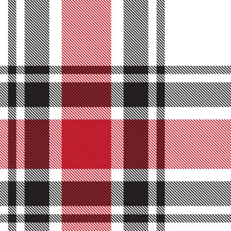 Red Glen Plaid textured seamless pattern suitable for fashion textiles and graphics Векторная Иллюстрация