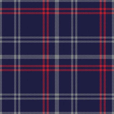 Red Navy Glen Plaid textured seamless pattern suitable for fashion textiles and graphics Vektoros illusztráció