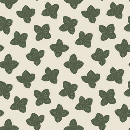 Green Floral botanical seamless pattern background suitable for fashion prints, graphics, backgrounds and crafts Vektorové ilustrace