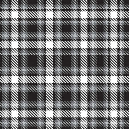 Black and White Ombre Plaid textured seamless pattern suitable for fashion textiles and graphics 免版税图像 - 162138232