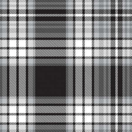 Black and White Ombre Plaid textured seamless pattern suitable for fashion textiles and graphics 免版税图像 - 162138255