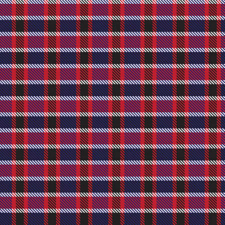 Red Navy Asymmetric Plaid textured seamless pattern suitable for fashion textiles and graphics Ilustración de vector