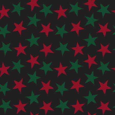 Christmas Stars brush stroke seamless pattern background for fashion textiles, graphics 免版税图像 - 162138368