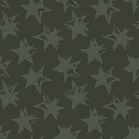 Green Stars brush stroke seamless pattern background for fashion textiles, graphics 免版税图像 - 162138369