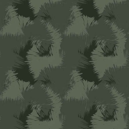 Green Brush Stroke Camouflage abstract seamless pattern background suitable for fashion textiles, graphics 免版税图像 - 162138377