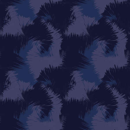 Blue Brush Stroke Camouflage abstract seamless pattern background suitable for fashion textiles, graphics
