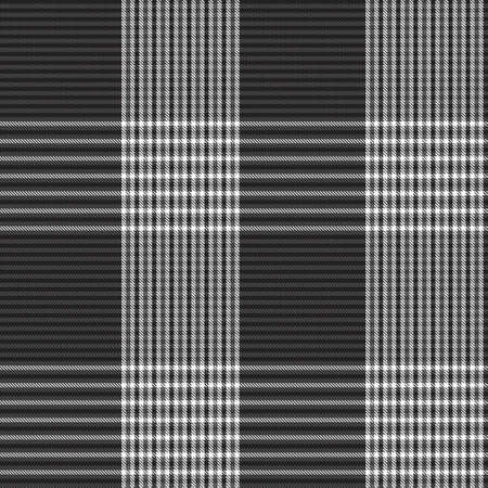 Black and White Asymmetric Plaid textured seamless pattern suitable for fashion textiles and graphics 免版税图像 - 162138493