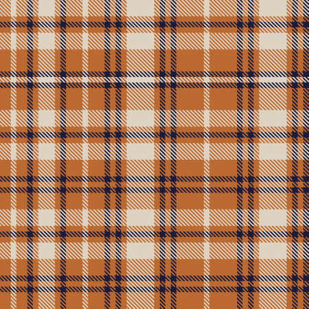 Orange Asymmetric Plaid textured seamless pattern suitable for fashion textiles and graphics