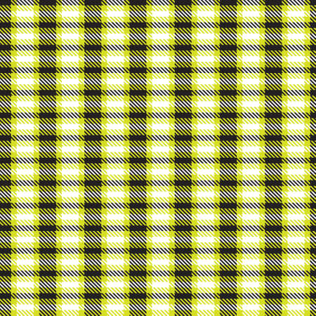 Yellow Asymmetric Plaid textured seamless pattern suitable for fashion textiles and graphics 免版税图像 - 162138509