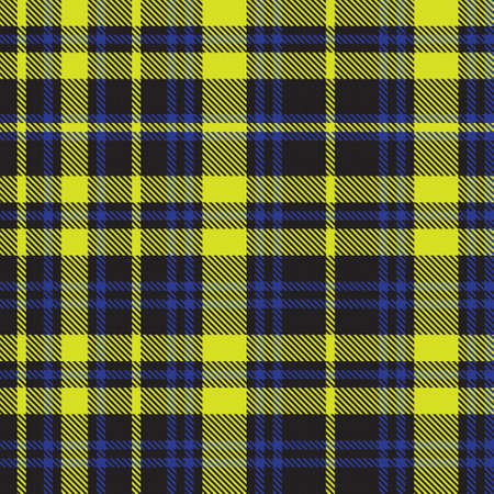 Yellow Asymmetric Plaid textured seamless pattern suitable for fashion textiles and graphics 免版税图像 - 162138510