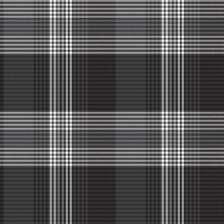 Black and White Asymmetric Plaid textured seamless pattern suitable for fashion textiles and graphics 免版税图像 - 162138665