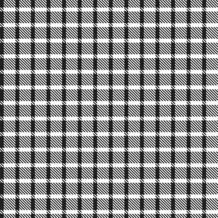Black and White Asymmetric Plaid textured seamless pattern suitable for fashion textiles and graphics 免版税图像 - 162138668