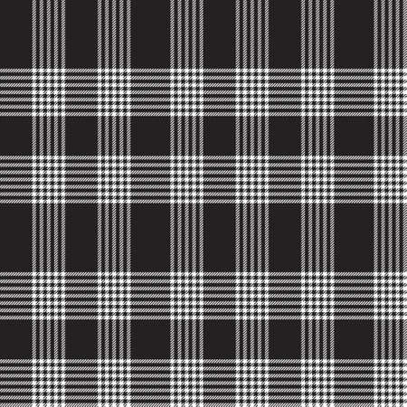 Black and White Asymmetric Plaid textured seamless pattern suitable for fashion textiles and graphics 免版税图像 - 162138671