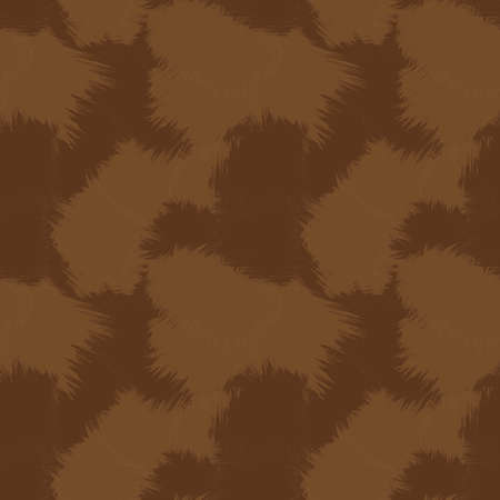 Brown Brush Stroke Camouflage abstract seamless pattern background suitable for fashion textiles, graphics 免版税图像 - 162138792