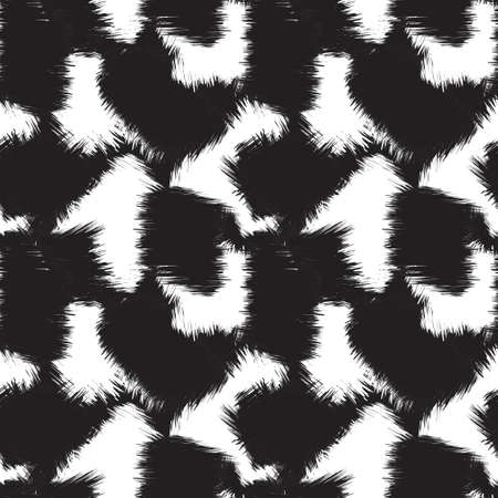 Black and White Brush Stroke Camouflage abstract seamless pattern background suitable for fashion textiles, graphics