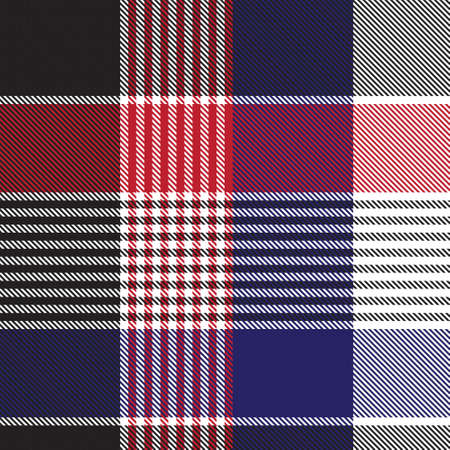 Red Navy Asymmetric Plaid textured seamless pattern suitable for fashion textiles and graphics