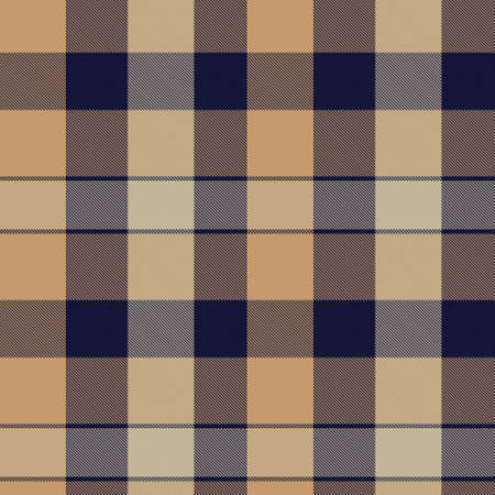 Brown Asymmetric Plaid textured seamless pattern suitable for fashion textiles and graphics Ilustración de vector