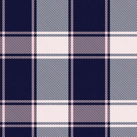 Pink Navy Asymmetric Plaid textured seamless pattern suitable for fashion textiles and graphics Ilustración de vector