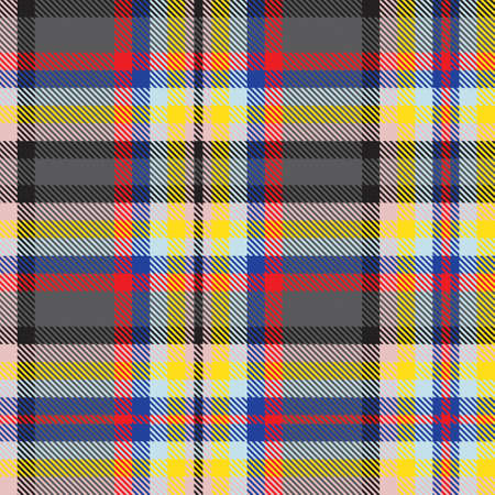 Colourful Plaid textured seamless pattern for fashion textiles and graphics Ilustración de vector