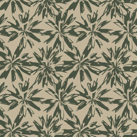 Green Floral brush strokes seamless pattern background for fashion prints, graphics, backgrounds and crafts Vektorové ilustrace