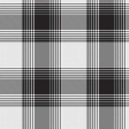 Black and White Ombre Plaid textured seamless pattern suitable for fashion textiles and graphics Vector Illustration