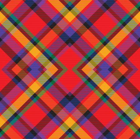 Rainbow Argyle Plaid Tartan textured Seamless pattern design suitable for fashion textiles and graphics Vector Illustration