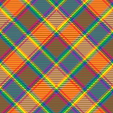 Rainbow Chevron Plaid Tartan textured Seamless pattern design suitable for fashion textiles and graphics