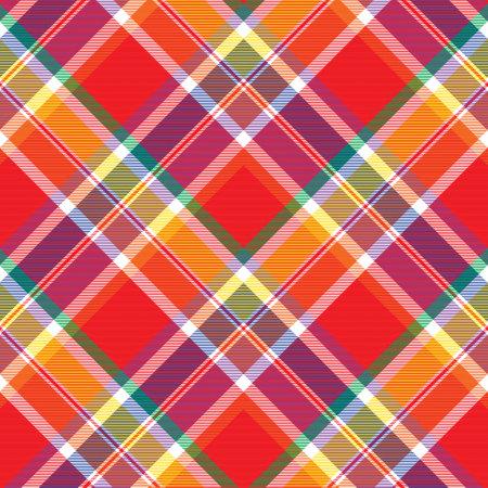Rainbow Chevron Plaid Tartan textured Seamless pattern design suitable for fashion textiles and graphics Vector Illustration