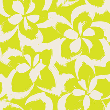 Yellow Floral brush strokes seamless pattern background for fashion prints, graphics, backgrounds and crafts Banque d'images - 167006232