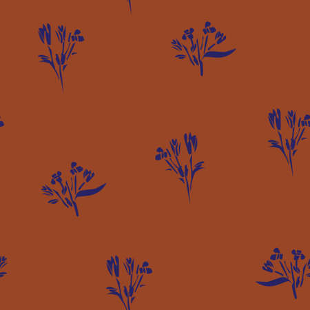 Brown Taupe Floral botanical seamless pattern background suitable for fashion prints, graphics, backgrounds and crafts