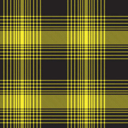 Yellow Ombre Plaid textured seamless pattern suitable for fashion textiles and graphics