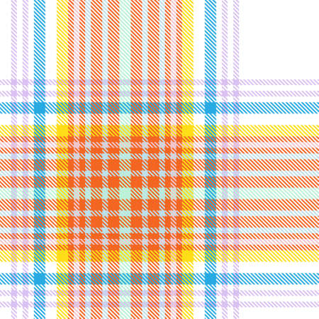 Rainbow Plaid, checkered, tartan seamless pattern suitable for fashion textiles and graphics Foto de archivo - 168175807