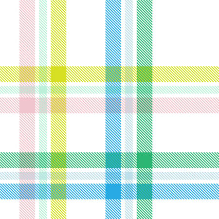 Rainbow Pastel Plaid seamless pattern for fashion textiles and graphics