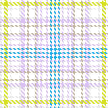 Colourful Plaid textured seamless pattern for fashion textiles and graphics Иллюстрация