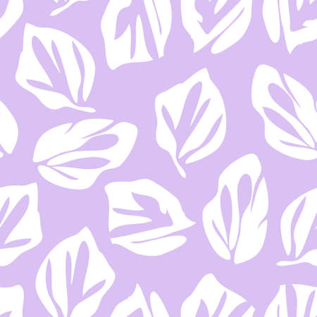 Purple Floral botanical seamless pattern background suitable for fashion prints, graphics, background and crafts