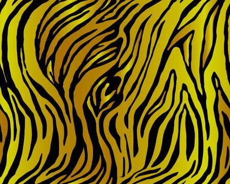 Full seamless tiger and zebra stripes animal skin pattern. Design for tiger colored textile fabric printing. Suitable for fashion use.