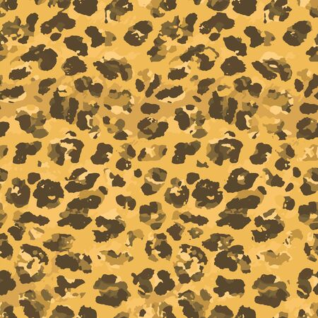 Full seamless leopard cheetah animal skin pattern. Design for textile fabric printing. Suitable for fashion use. Illustration
