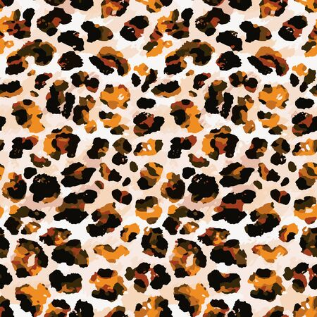 Full seamless leopard cheetah animal skin pattern. Design for textile fabric printing. Suitable for fashion use.