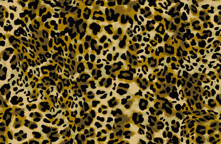 Full seamless leopard cheetah animal skin pattern. Design for textile fabric printing. Suitable for fashion use. Ilustración de vector