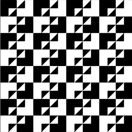 Full seamless modern geometric texture pattern for decor and textile. Black and white shape for textile fabric printing and wallpaper.