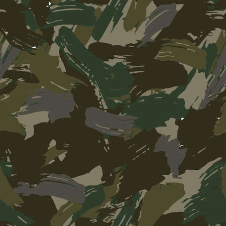 Full seamless military camouflage dark texture skin pattern vector for textile. Usable for Jacket Pants Shirt and Shorts. Dirty army camo masking design for hunting fabric print and wallpaper.