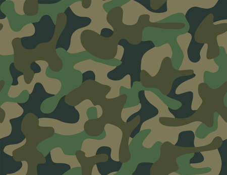 Full seamless abstract military camouflage skin pattern vector for decor and textile. Army masking design for hunting textile fabric printing and wallpaper. Design for fashion and home design.