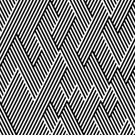 Full Seamless Geometric Zigzag Fabric Print Pattern. Black and White Vector. Textile and Home Decoration.
