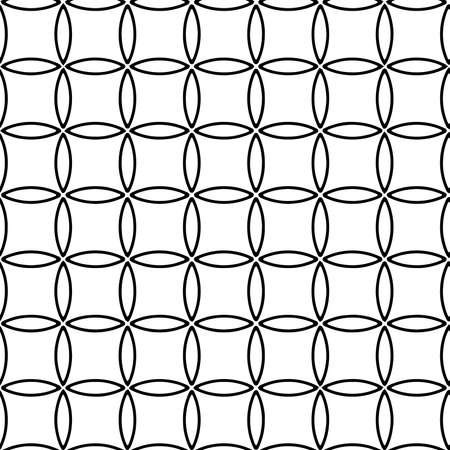 Full seamless modern geometric texture pattern for decor and textile. Black and white shape for textile fabric printing and wallpaper. Abstract multipurpose model design for fashion and home design