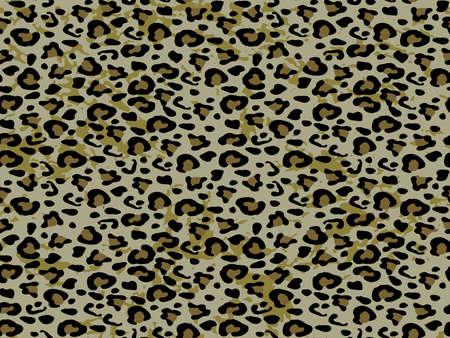 Full seamless leopard cheetah animal skin pattern. Design for textile fabric printing. Suitable for fashion use. Vektorgrafik
