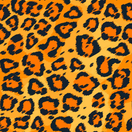 Full seamless leopard cheetah texture animal skin pattern vector. Orange Yellow Design for textile fabric printing. Suitable for fashion use.