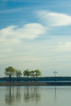 masuria: Jetty on the lake in Masuria district, Poland