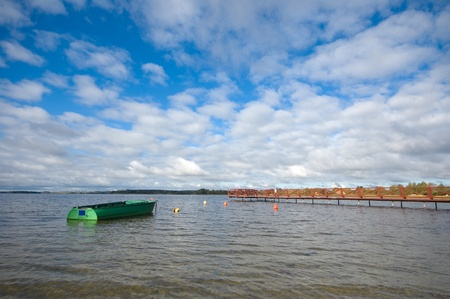 Boat on the lake, Masuria, Poland Stock Photo - 12835540
